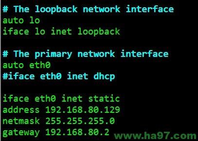 ubuntu-15 x64  配置静态IP地址