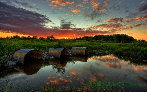 3 culvert sunset