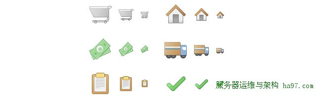 Checkout Icons for E-shop