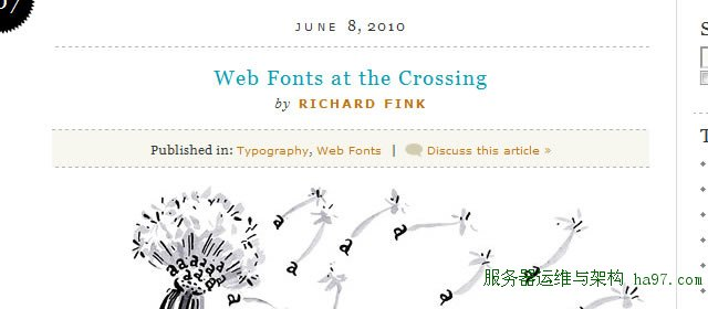 A List Apart: Articles: Web Fonts at the Crossing