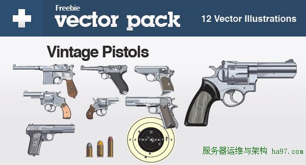Exclusive Freebie Pack – Vintage Pistols