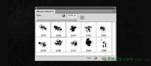 10 High Resolution Grunge Brushes for Photoshop