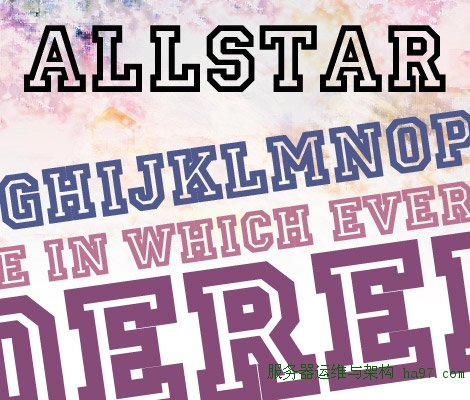 Allstar Regular free font