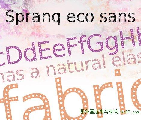 Spranq eco sans free font