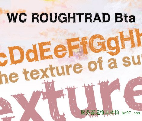 WC ROUGHTRAD free font
