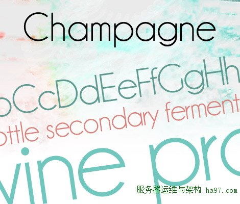 Champagne & Limousines free font