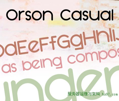 SF Orson Casual Heavy free font