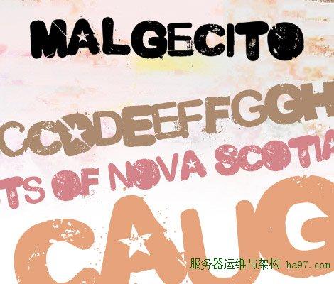 Malgecito free font