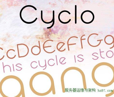 Cyclo free font