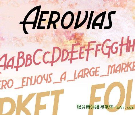 Aerovias Brasil NF free font