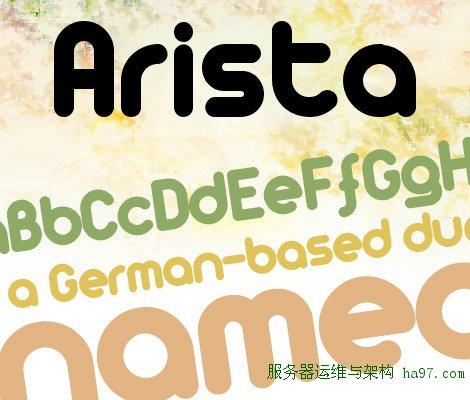 Arista free font