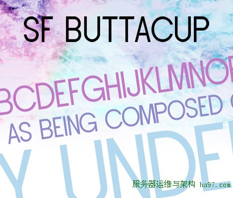 SF Buttacup Lettering free font