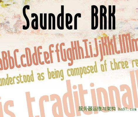 Saunder free font