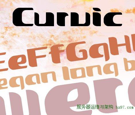 Curvic free font