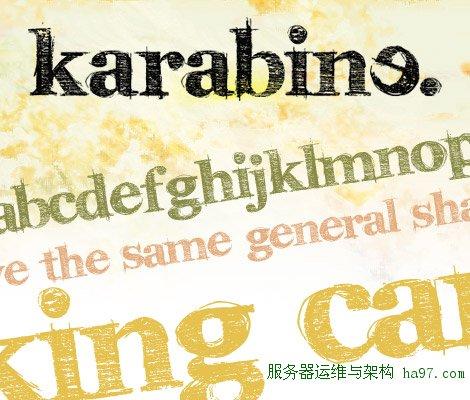 karabinE free font