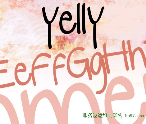 Yelly free font
