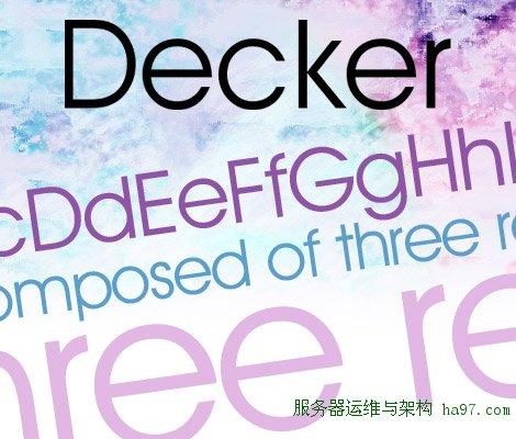 Decker free font