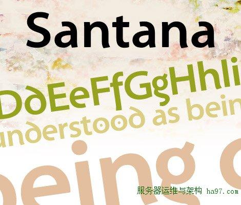 Santana Bold free font