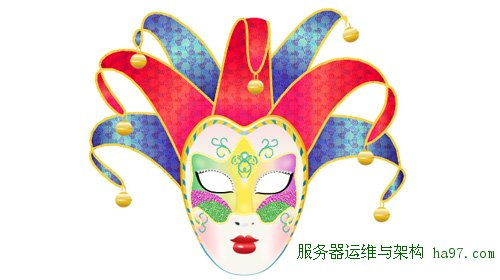 create a colorful vector carnival mask