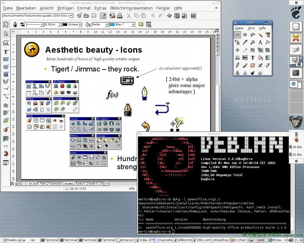 Debian GNU/Hurd screenshot 1
