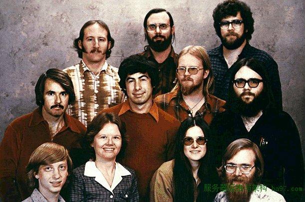 微软早期员工集体照