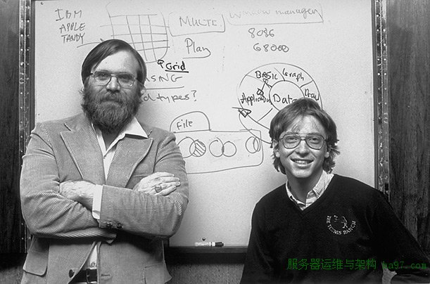 """1981-1982年之间,艾伦和盖茨在微软的""""四连拍"""""""