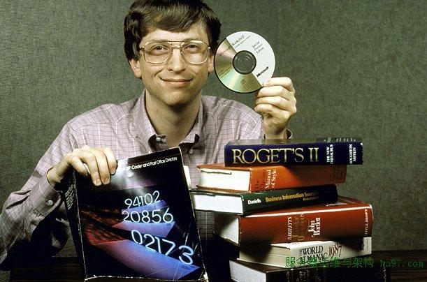 1987年,盖茨展示CD的存储能力  谋万世全局者