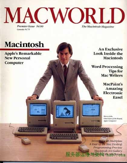 1984年,《苹果世界》杂志第一期封面——乔布斯  谋万世全局者