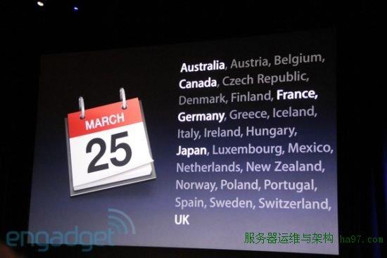 iPad 2将于3月25日在25个国家上市
