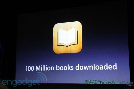 iBook书店下载次数达到1亿次