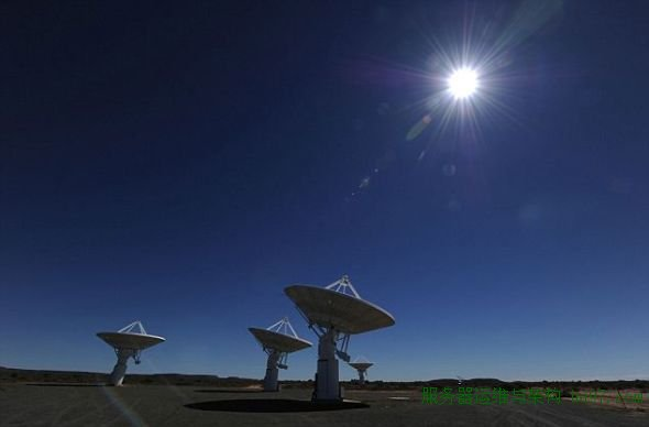 平方公里阵列的原型KAT-7,目前正在南非卡鲁沙漠接受测试